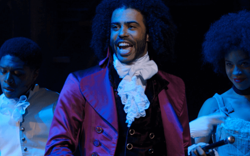 A picture of Daveed Diggs, on stage as Thomas Jefferson in Hamilton (he's so great!)
