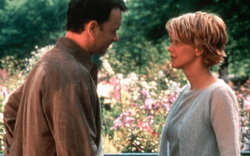 Photo of Tom Hanks and Meg Ryan in the movie You've Got Mail