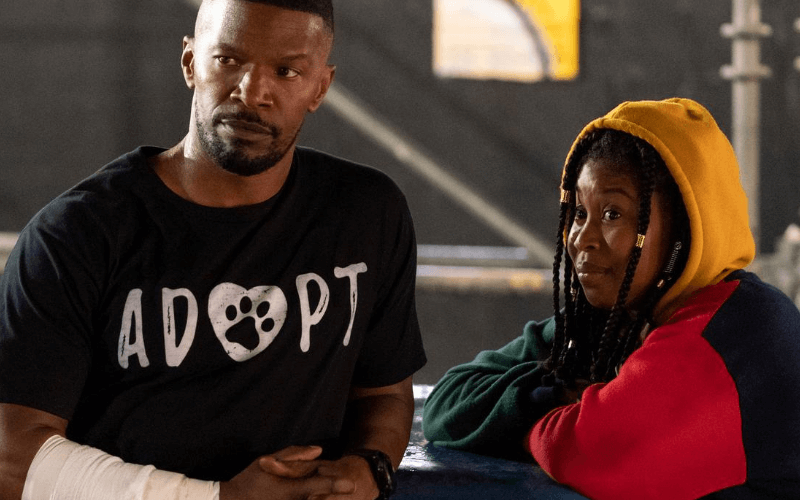 Picture of Jamie Foxx and Dominique Fishback in the film Project Power