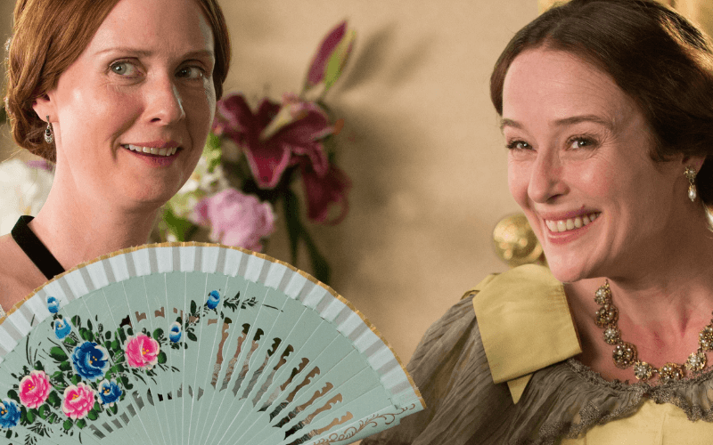 A picture of Cynthia Nixon and Jennifer Ehle in the film A Quiet Passion