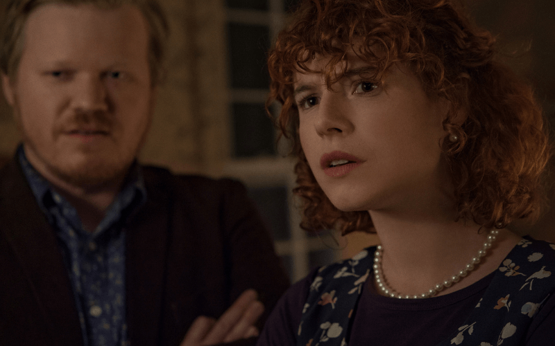 Picture of Jesse Plemons and Jessie Buckley in the film I'm Thinking of Ending Things