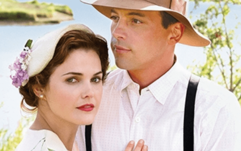 A picture of Keri Russell and Skeet Ulrich in the Hallmark Hall of Fame movie The Magic of Ordinary Days