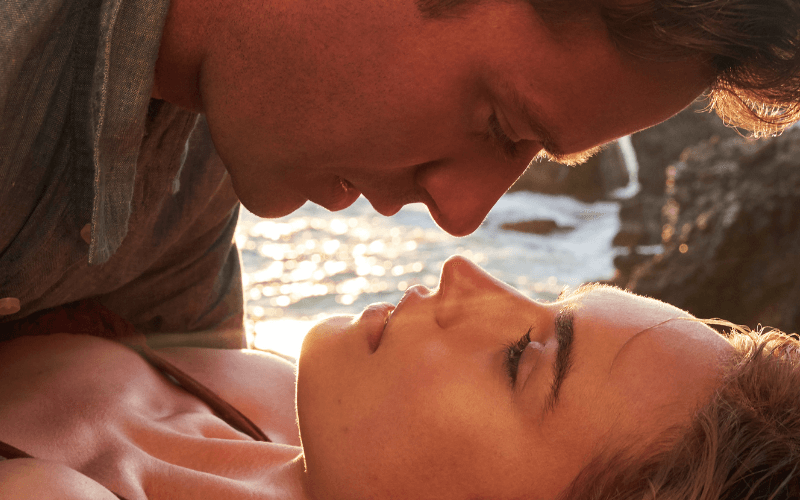 Armie Hammer and Lily James in Rebecca (2020)