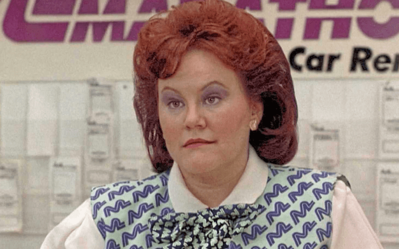 A picture of Edie McClurg in the film Planes, Trains & Automobiles