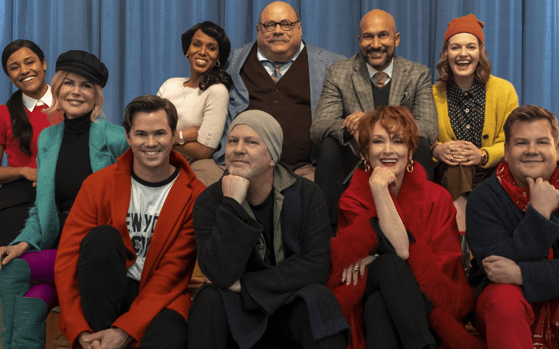 Ryan Murphy and the extended cast of the 2020 Netflix feature: The Prom