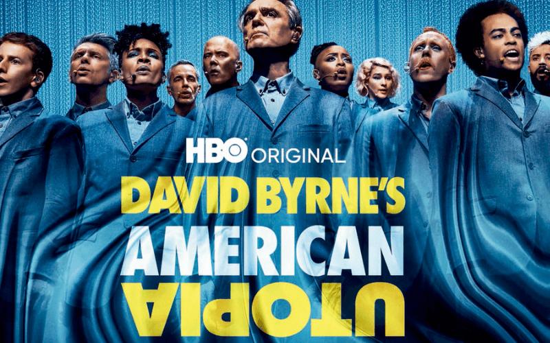 David Byrne and cast members of American Utopia.