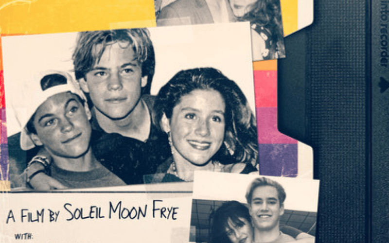 Part of the poster for the film Kid 90, showing 90s teen stars.