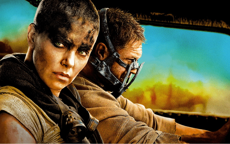 Charlize Theron and Tom Hardy in Mad Max Fury Road
