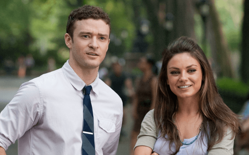 Justin Timberlake and Milia Kunis in Friends with Benefits