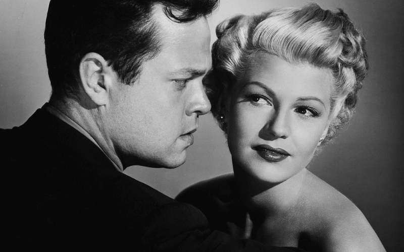 Orson Welles and Rita Hayworth in The Lady from Shanghai
