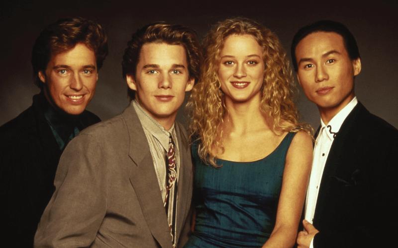 Brian McNamara, Ethan Hawke, Teri Polo, and BD Wong in Mystery Date