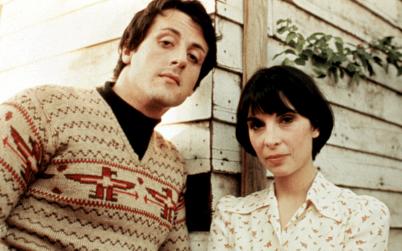 Sylvester Stallone and Talia Shire in Rocky