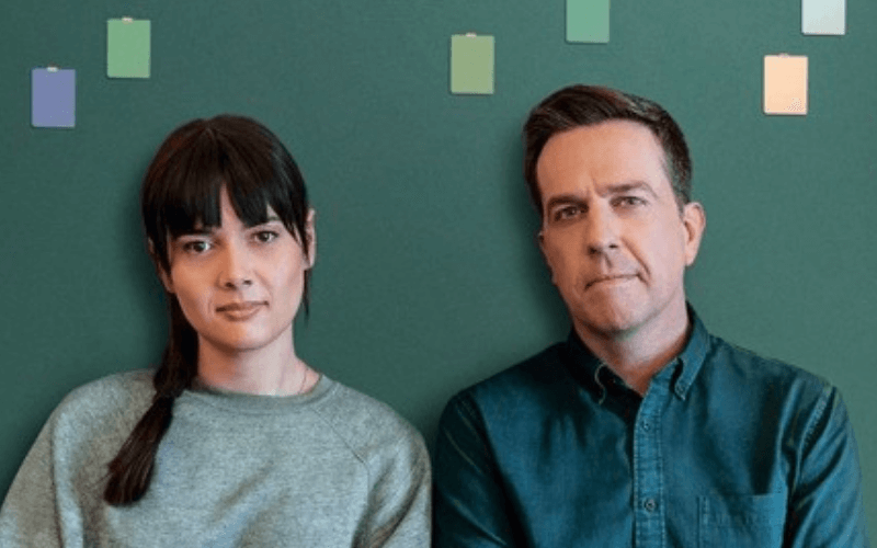 Patti Harrison and Ed Helms in Together Together